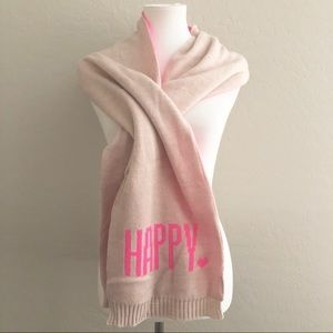 GAP happy Pink sweater knit oversize scarf